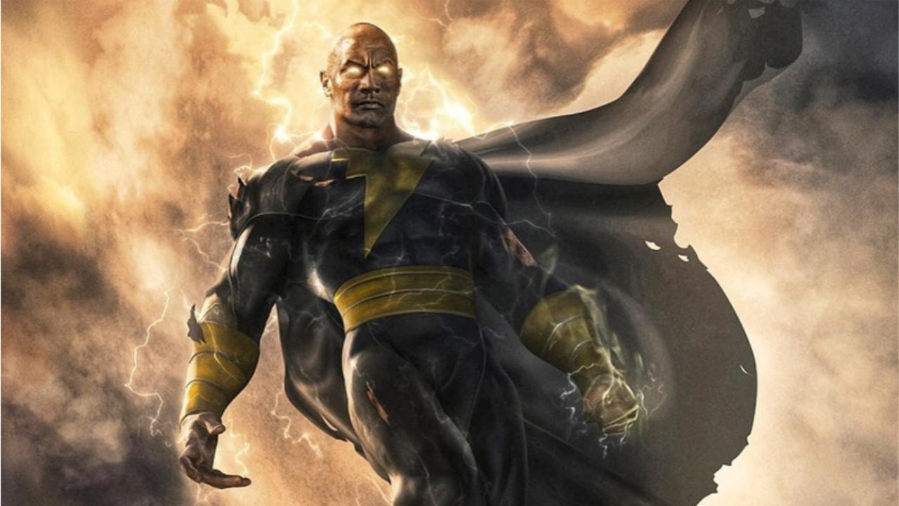 Black Adam Dwayne Johnson artwork