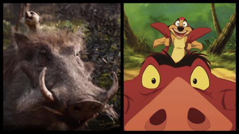 Le Roi Lion 1994 vs. 2019 : Timon et Pumbaa
