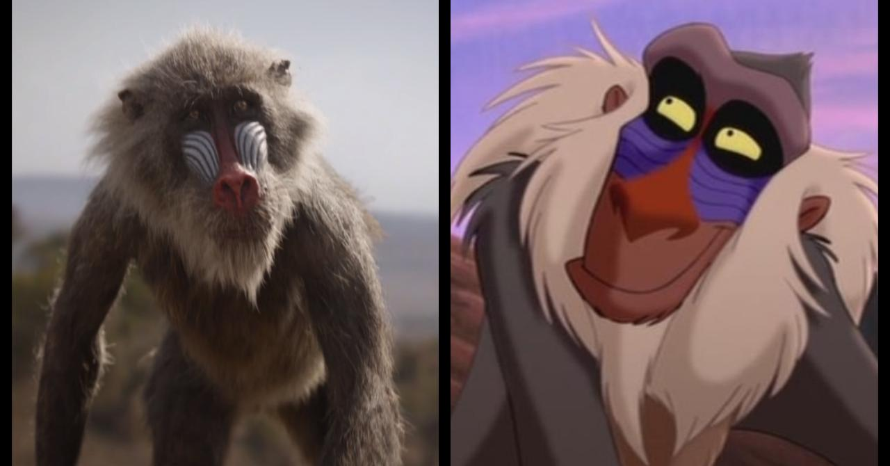 Le Roi Lion 1994 vs. 2019 : Rafiki