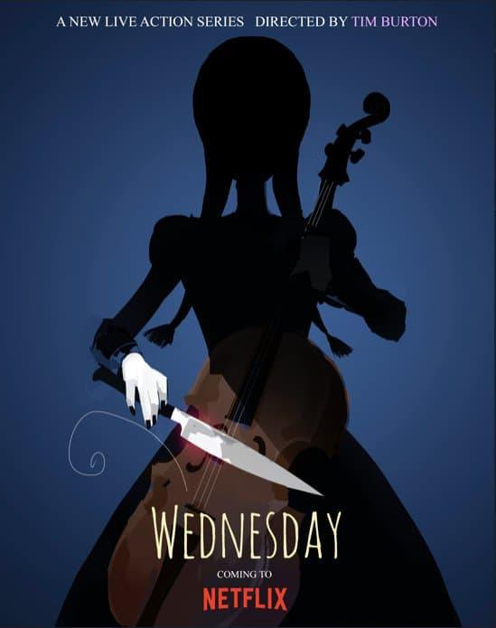 Wednesday affiche Tim Burton